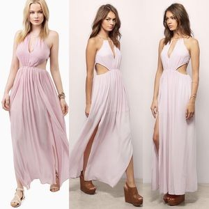 Tobi pink cut out maxi dress summer